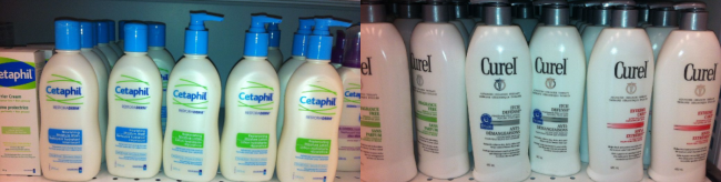 cetaphil and Curel for Eczema, best lotions for Eczema