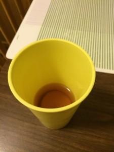 Potato Slice soaking in Green Tea