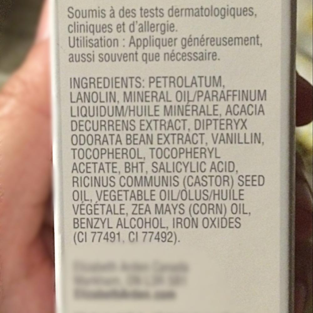 Elizabeth Arden ingredients Check for Eczema